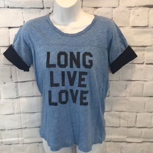J Crew Vintage Cotton Long Live Love T-Shirt S